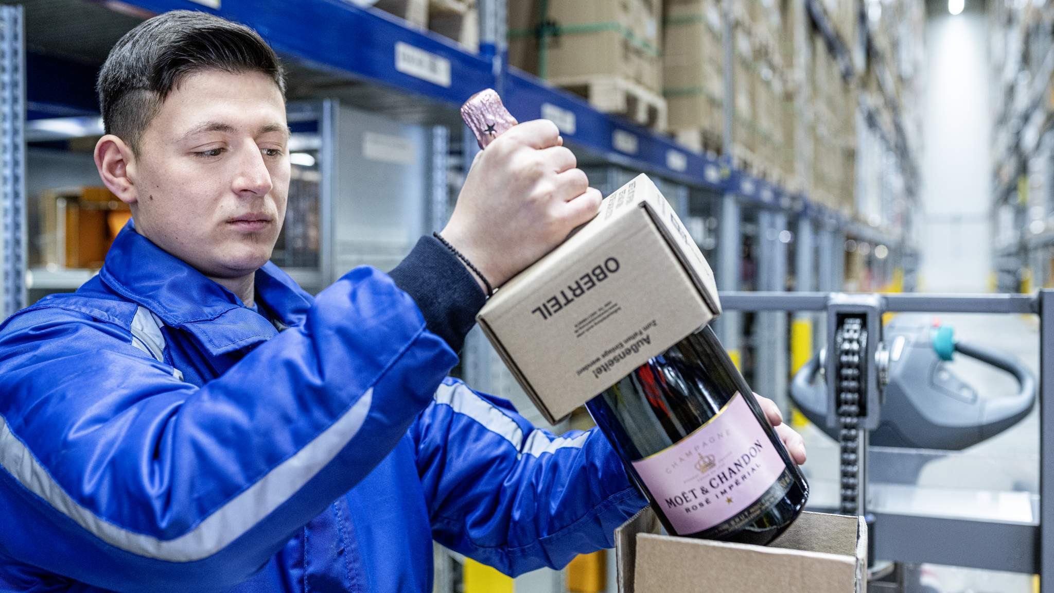 Wine and spirits logistics with Moët Hennessy at the highest level.